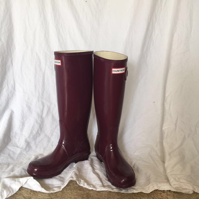 Gloss Hunter boots in Violet