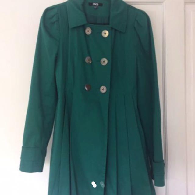 Green Asos Coat - Size Small