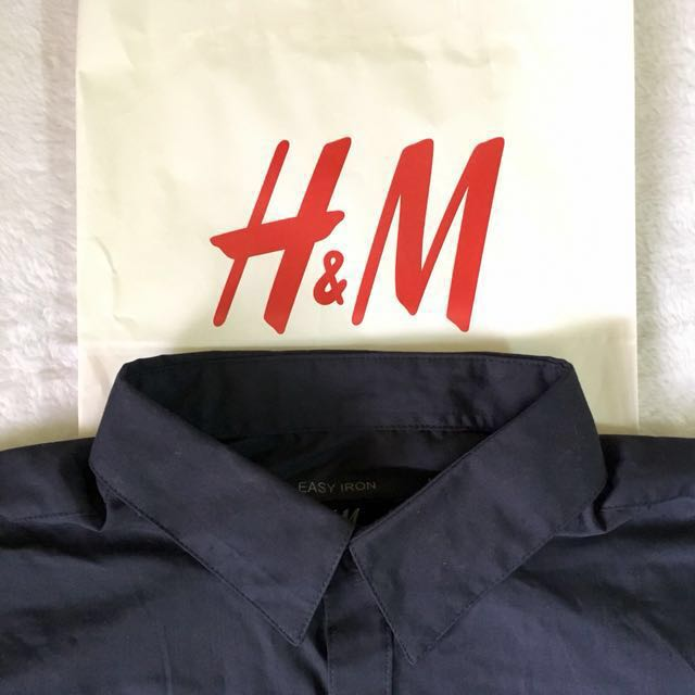 H&M Easy Iron Button Down Polo Shirt (brand new)