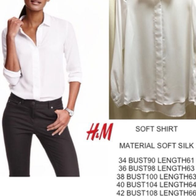 H&M Soft Silk/Satin Blouse