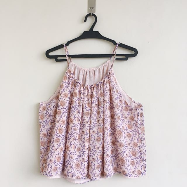H&M-inspired halter floral top