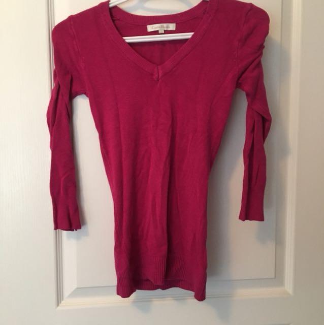 Hot pink CB sweater