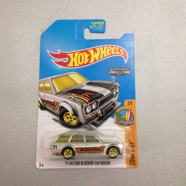 Hot Wheels 71 Datsun Bluebird 510 Wagon Zamac