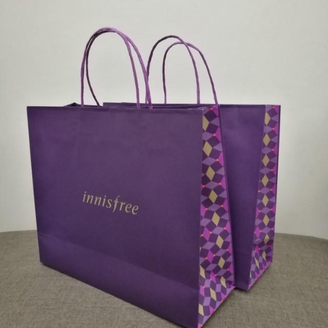 INNISFREE Christmas Shopping bags