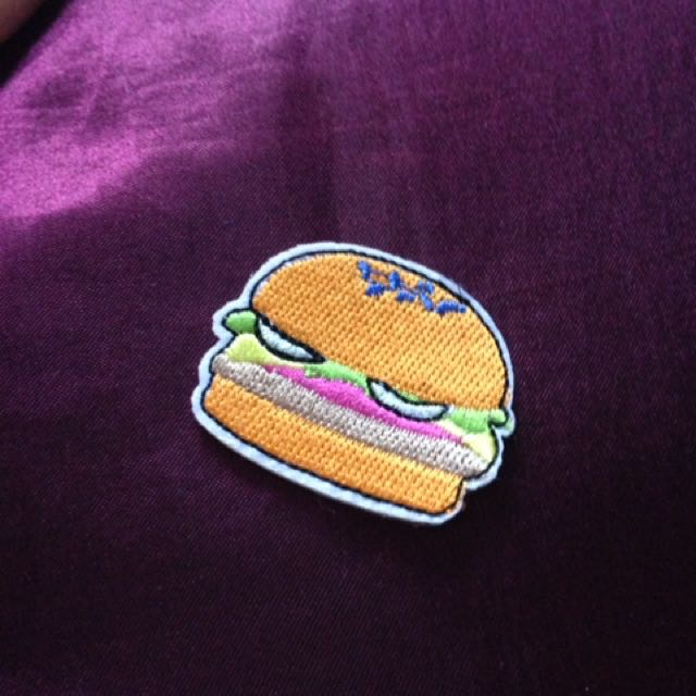Iron On Hamburger Patch