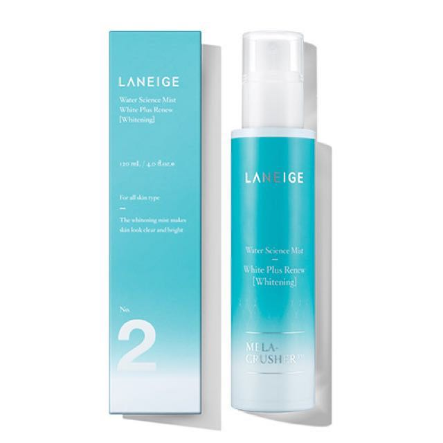 (Jual santai no nego) Laneige water science mist white plus renew