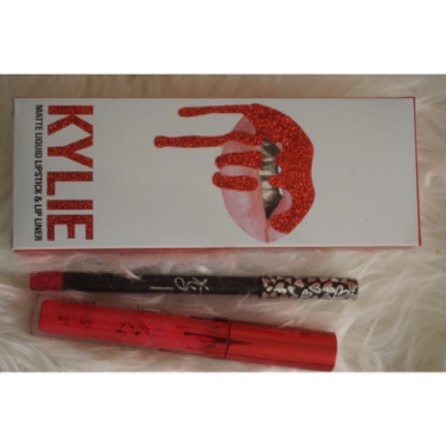 Kylie cosmetics valentine lipkit