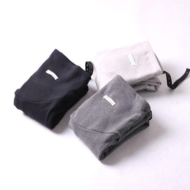 冬季加絨加厚保暖孕婦褲L碼120斤以上可穿顏色黑跟灰