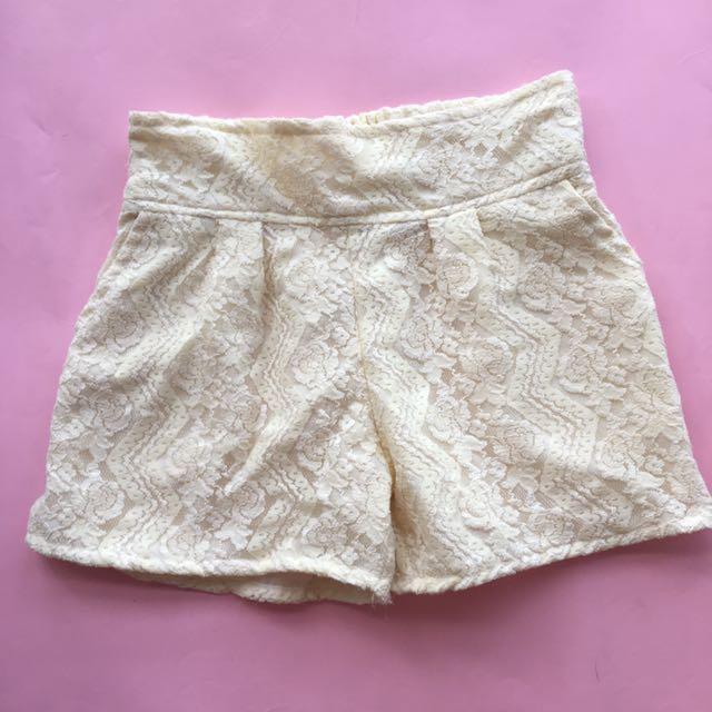 Lace shorts free size