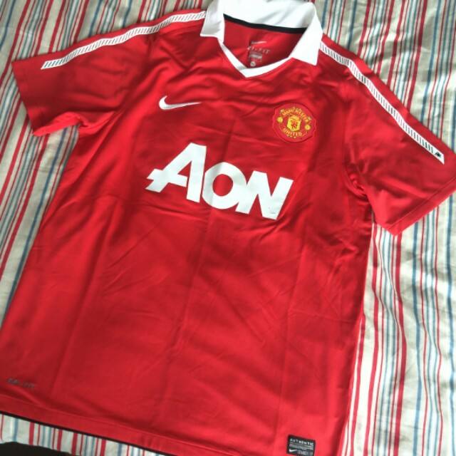 098974adb Authentic Manchester United Home Jersey Season 2010 2011