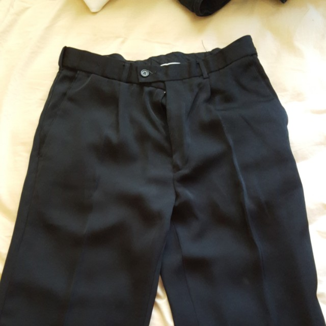 Men black suit pants size 77R