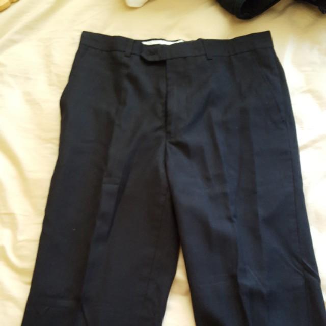 Men black suit pants size slim 30R