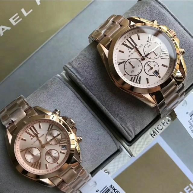MICHAEL KORS 經典時尚情侶對錶,腕錶(一隻4900) 下面有標註尺寸