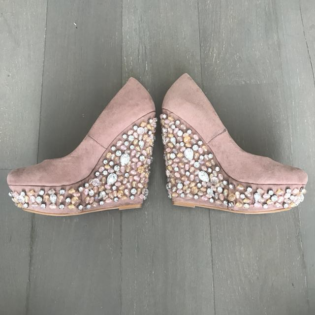 Miss Selfridge Diamonte Wedges