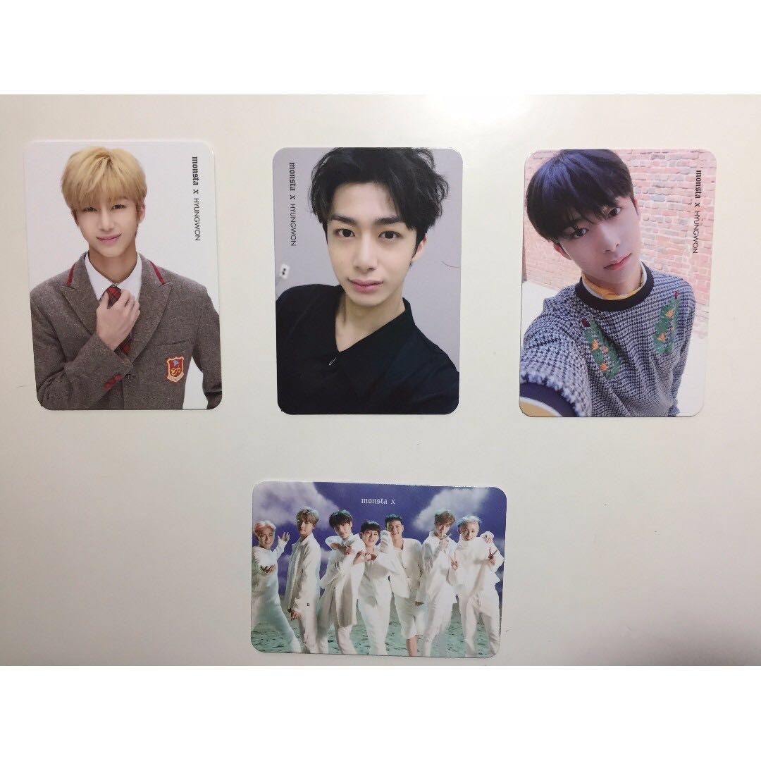 Monsta x photocards (hyungwon + group)