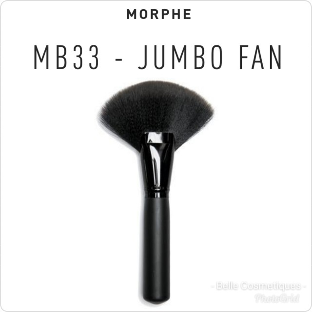 Morphe Brushes Jumbo Fan Brush Mb33 13 With Normal Mail Health Beauty Makeup On Carousell It's also perfect for diffusing color and sweeping away excess powder. carousell