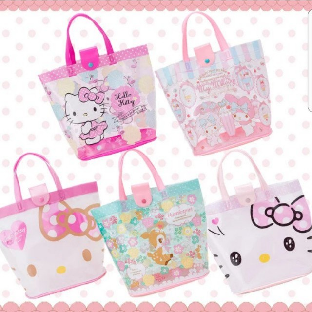b52b3ce047cb My Melody Hello Kitty Tote Bag Shoulder Bag Swimming Bag Waterproof ...