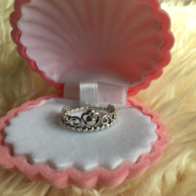 NEW 925 Sterling Silver Princess Tiara Ring, Sz 8
