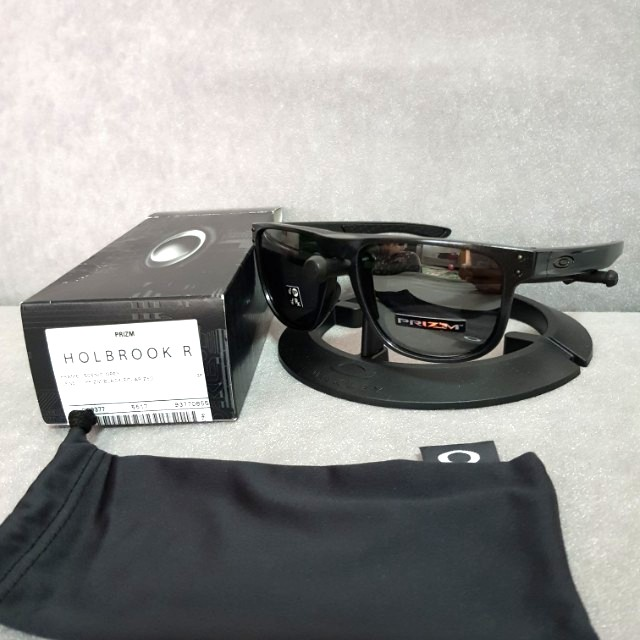 5c0b4114fa Oakley holbrook R round scenic grey frame prizm black polarized lens ...