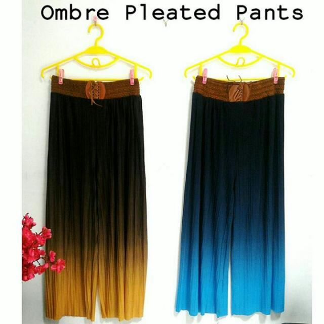 Ombre Pleated Pants