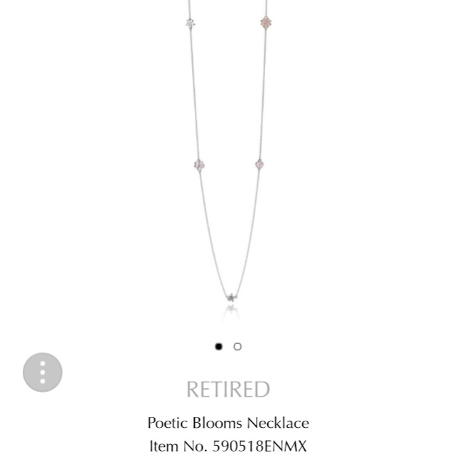 60a9b7b7c REDUCED!!! PANDORA Poetic Blooms Silver Necklace, Women's Fashion ...