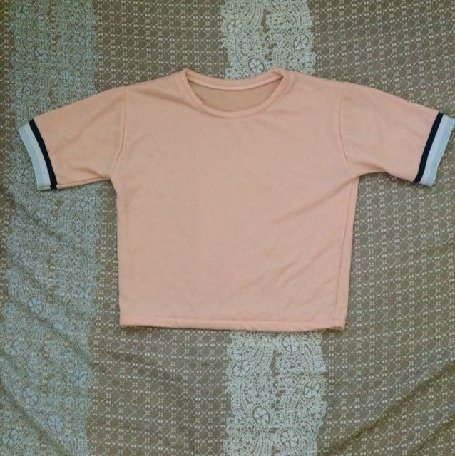 Peach Short Sleeve Top