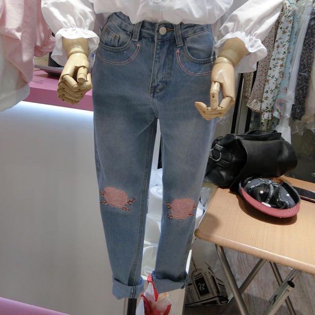 *正韓*pink玫瑰褲