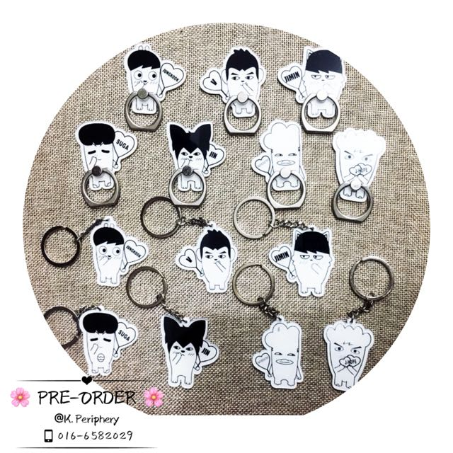 [PO] BTS Hip Hop Monster Figure Iring / Keychain