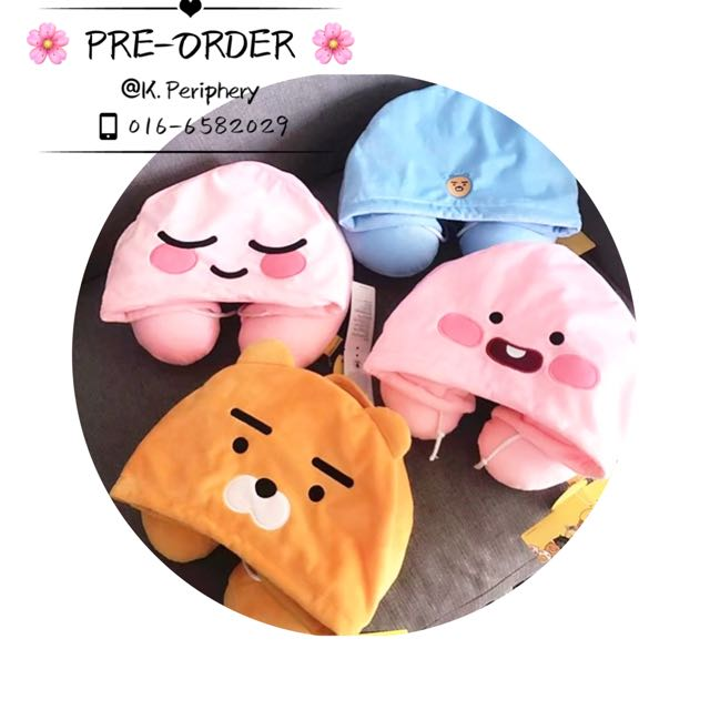 [PO] Kakaofriends Hoodie Neck Pillow