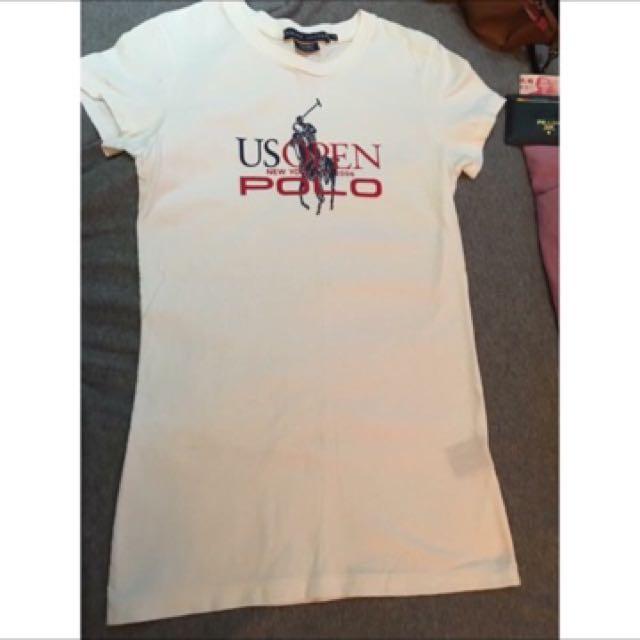 品牌Ralph Lauren Polo 尺寸M 上衣Logo修身 中長版T恤
