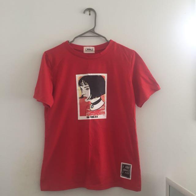 red mathilda tshirt