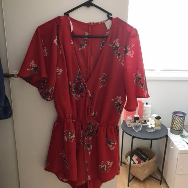 Red playsuit selling cheap
