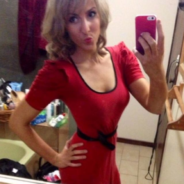 Red Review Dress - Size 8