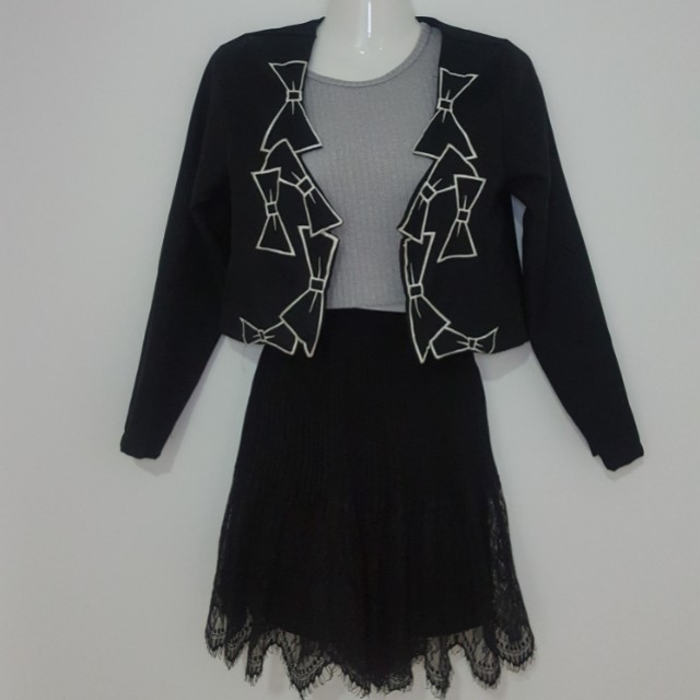 Ribbon Crop Blazer
