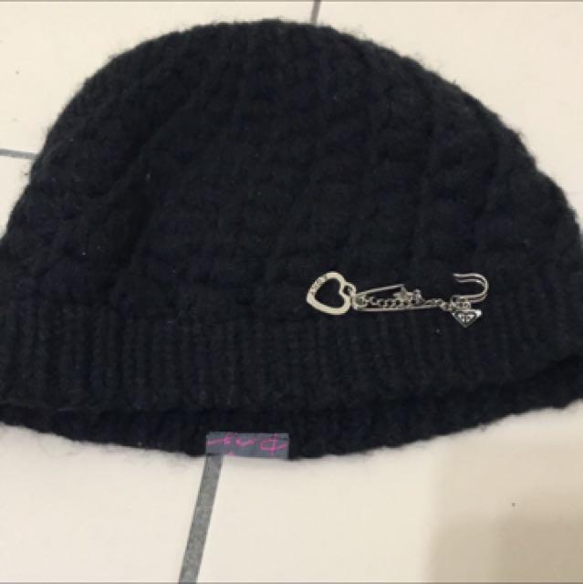 Roxy 黑色針織毛帽