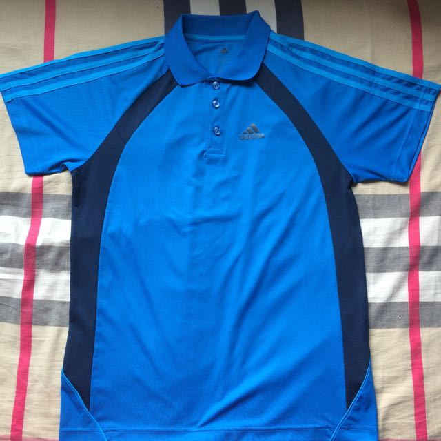 Royal Blue Adidas Climacool Polo Shirt
