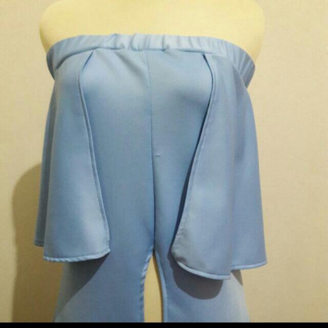 Sabrina Slit Blue Dress
