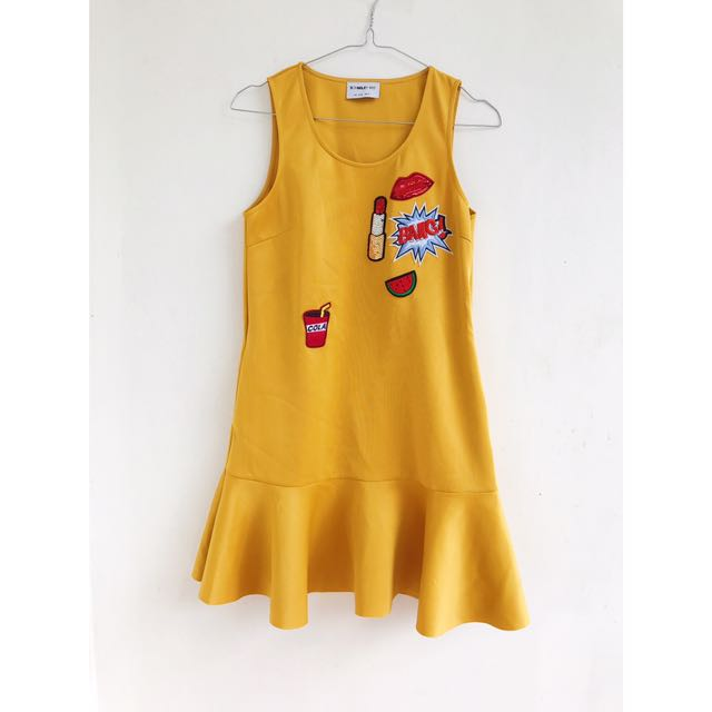 Schmiley Mo Yellow Dress