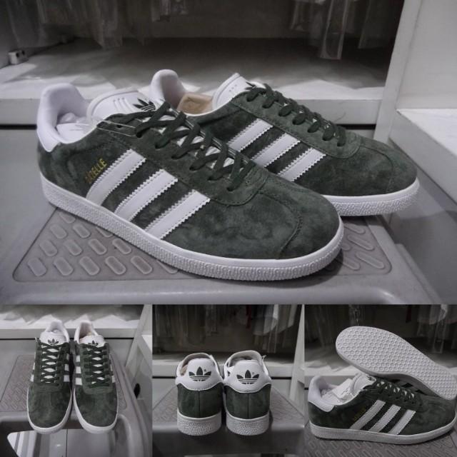 Sepatu Kets Sneakers Casual Adidas Gazelle OG Suede Dark Green Hijau ... 65283a7896