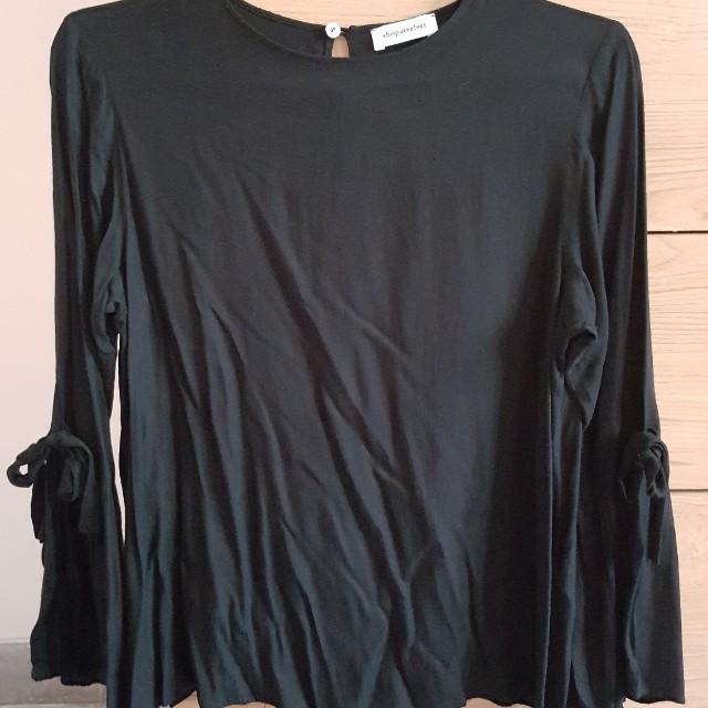 Shopatvelvet Black Blouse