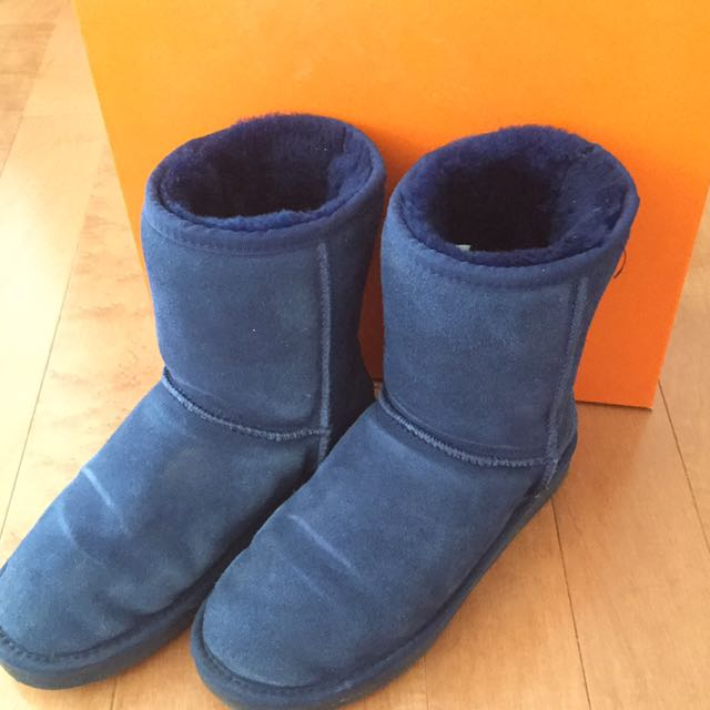 Size 7 Auabp leather boots with fur lining