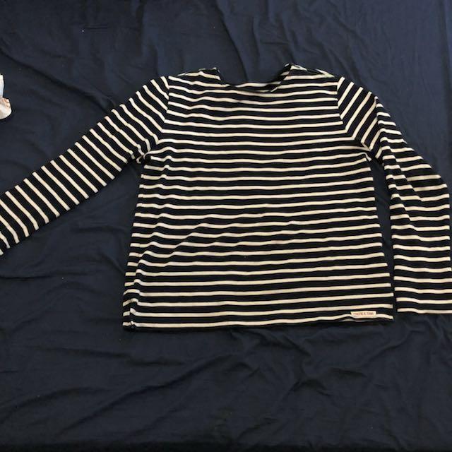 Stripes T-shirt lengan panjang