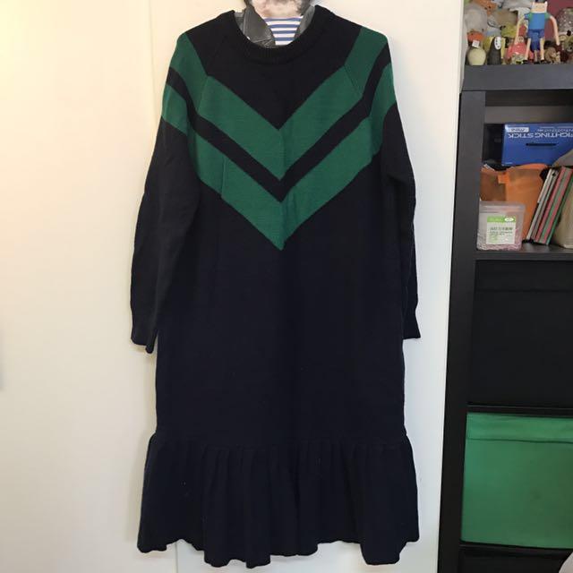 二手-stylenanda針織長版洋裝