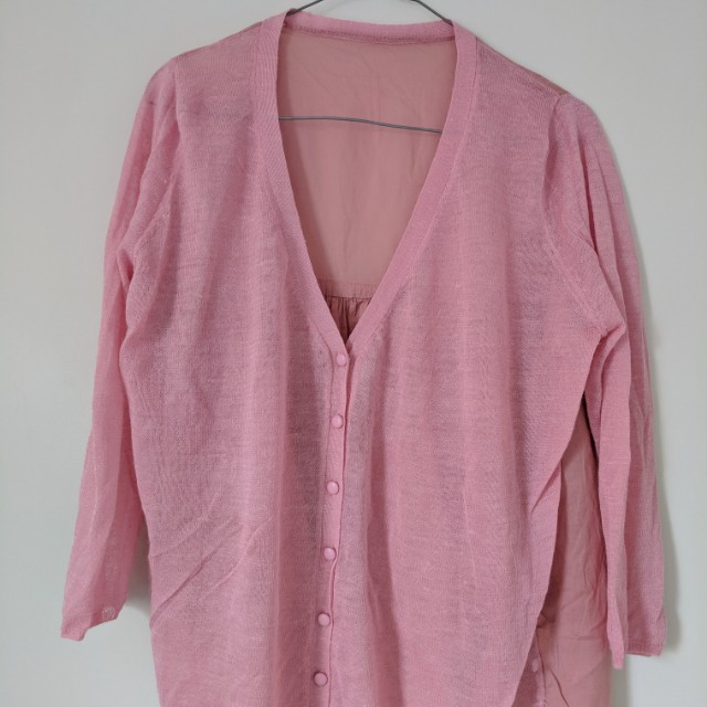 Summer cardi 3/4 sleeves sz 6-8