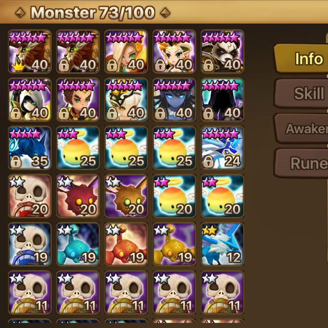 Summoners War C1 Asia Account