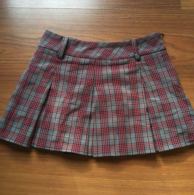 Tartan checked mini skirt