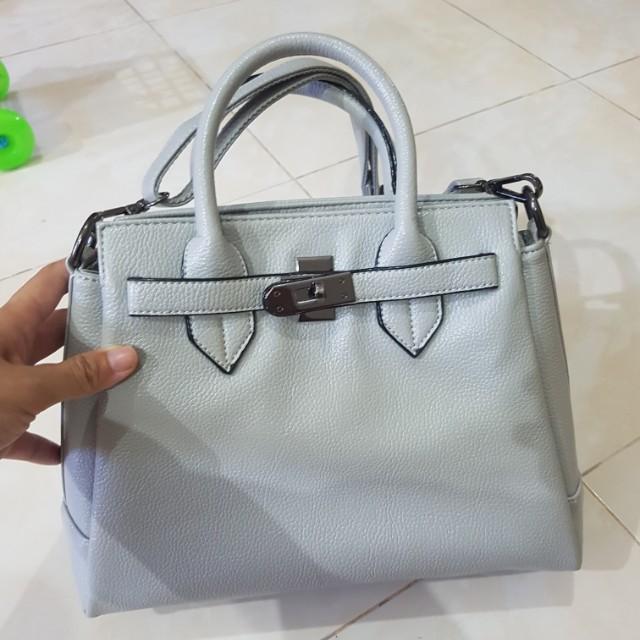 Tas handbag abu grey