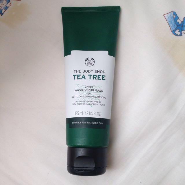 The Body Shop 3-in-1 Tea Tree (facial Wash, Scrub, Mask)