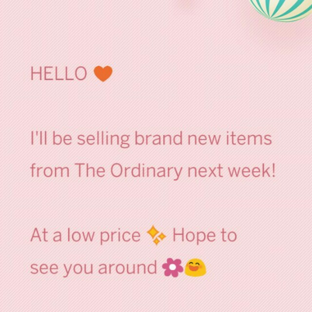 The Ordinary sale next week!