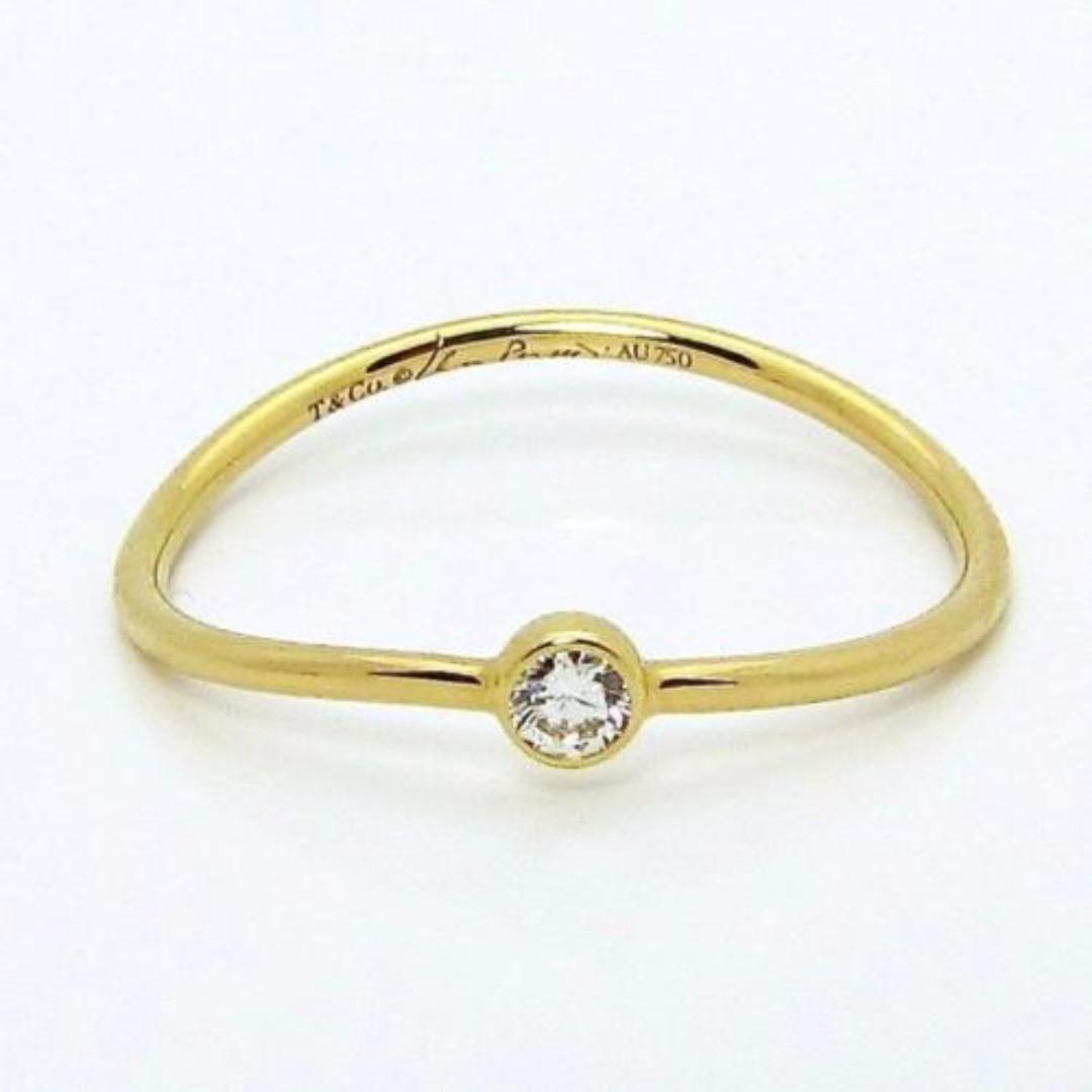 Elsa Peretti Onde Bague En Diamant Trois Rangs En Or 18 Carats - Taille 4 1/2 Tiffany & Co. Az5gOoz